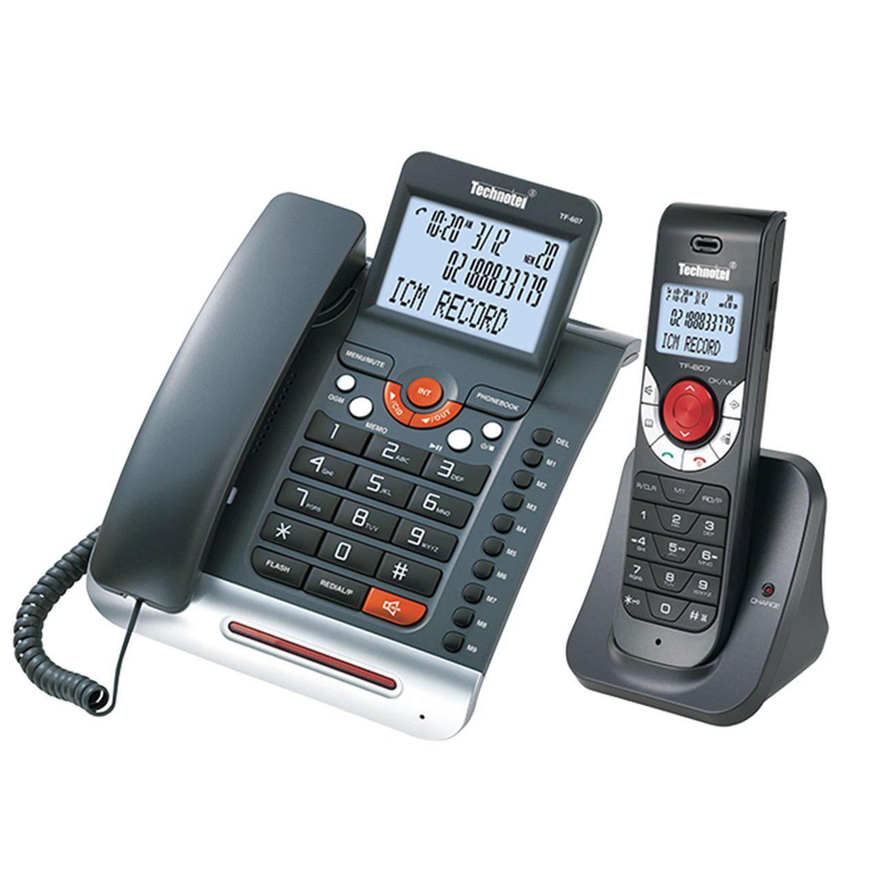 قیمت                      تلفن بی سیم تکنوتل مدل TF-607