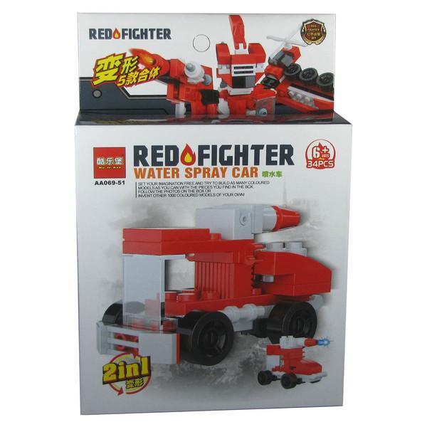 ساختنی لگو گودی اسلایم سری Red Fighter مدل AA069-51 سری کامل 5 بسته و 10 طرح