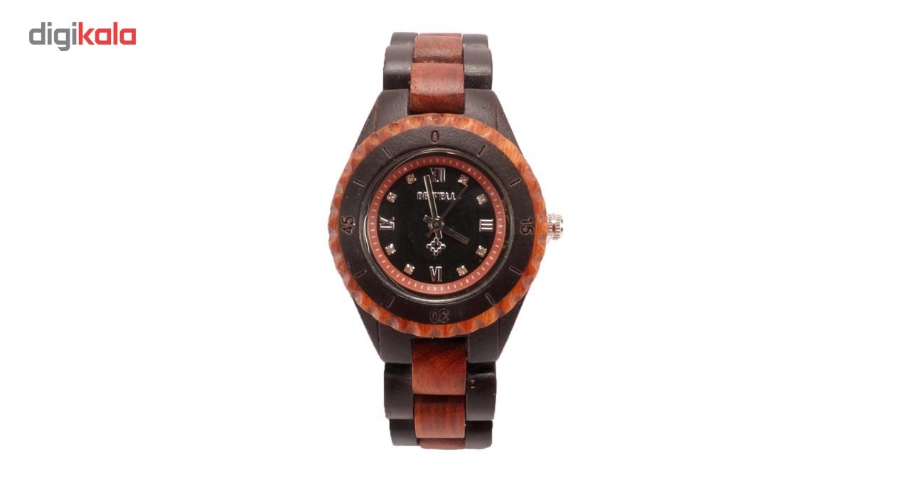 ساعت مچی عقربه ای چوبی زنانه بیول مدل RW79