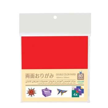 بسته کاغذ اوریگامی اوریران طرح رنگی مدل دو رو کد 1010