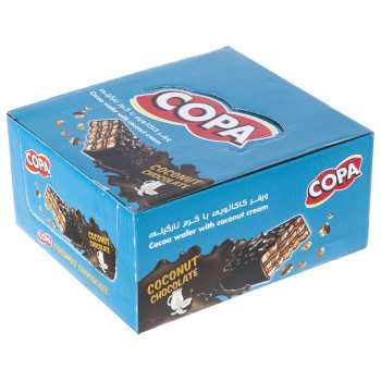 ویفر کاکائویی با کرم نارگیلی کوپا بسته 30 عددی