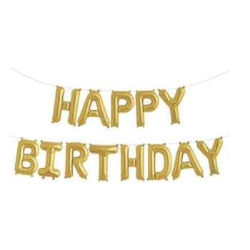 بادکنک فویلی مدل Happy Birthday کد 9978 بسته 13 عددی