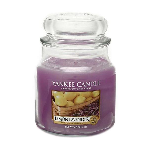 شمع کوچک ینکی کندل مدل لیمو و اسطوخودوس