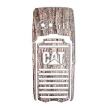 برچسب تزئینی ماهوت مدل Walnut Texture مناسب برای گوشی  CAT B25
