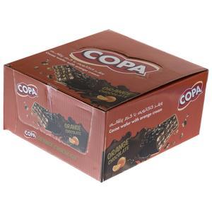 ویفر کاکائویی با کرم پرتقالی کوپا بسته 30 عددی