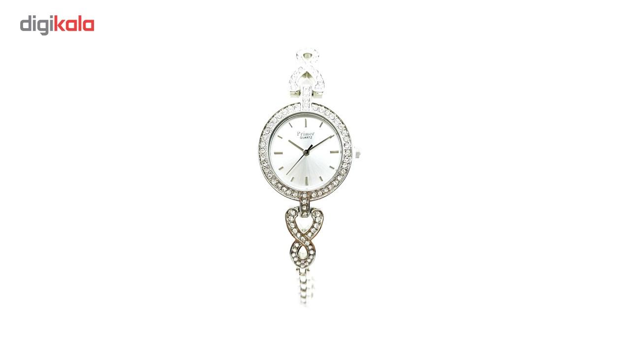ساعت مچی عقربه ای زنانه پرایمر مدل PW-5049-s-white