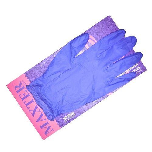 دستکش یکبار مصرف ضد حساسیت مکستر بدون پودر سایز کوچک بسته 100 عددی با قابلیت کشش و جذب
