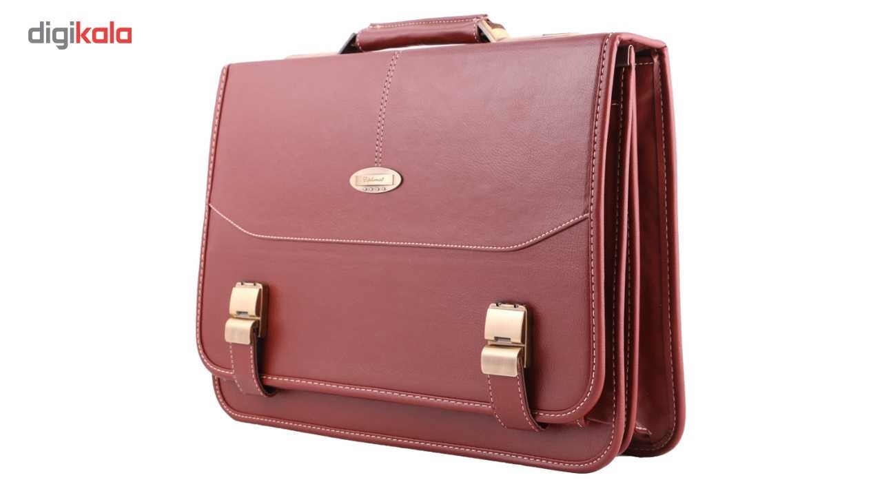 MAACHARM Leather briefcase. Model 02, with an especial leather gift
