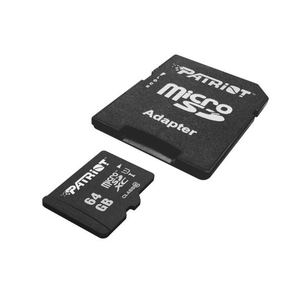 کارت حافظه میکرو اس دی پتریوت سری LX سرعت 85MB/s ظرفیت 64 گیگابایت همراه با آداپتور