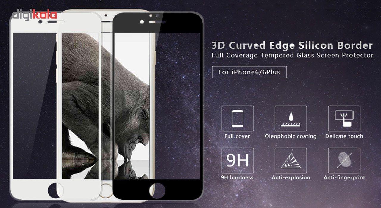 محافظ صفحه نمایش شیشه ای گرفیین مدل 3D Corning Gorilla Glass مناسب برای گوشی موبایل آیفون 6/6s main 1 2
