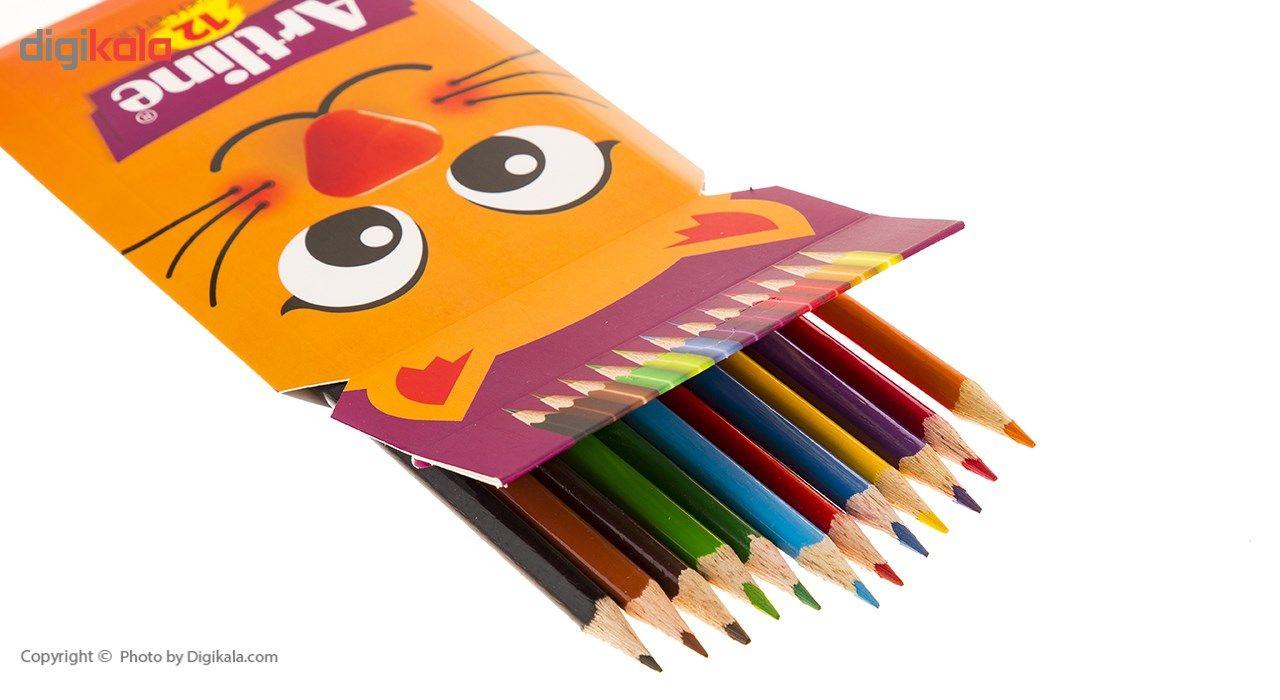 مداد رنگی 12 رنگ آرت لاین مدل ECP12PIL main 1 3