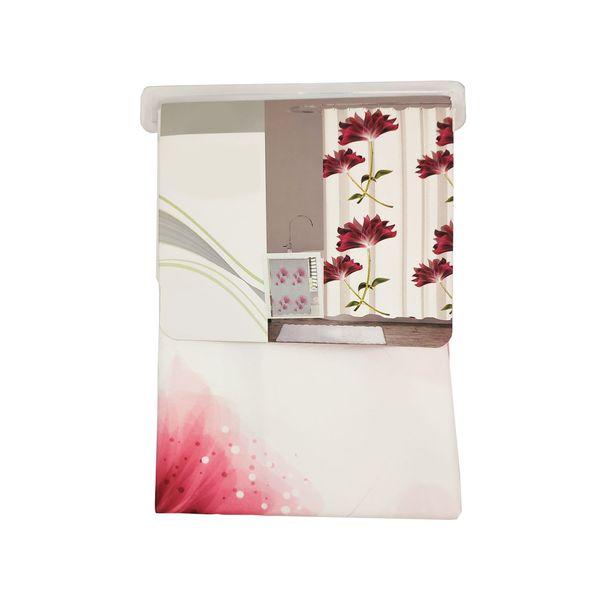 پرده حمام امیا طرح flower سایز 180x200 سانتیمتر