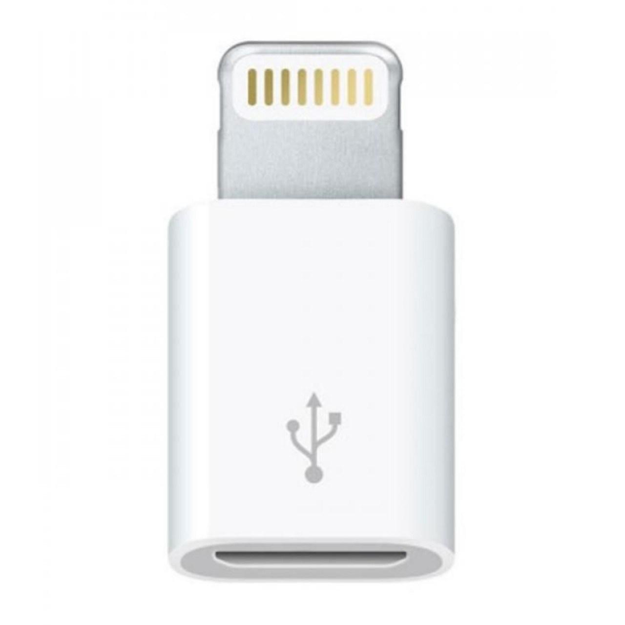 تبدیل micro USB به لایتنینگ مدل lightning adapter