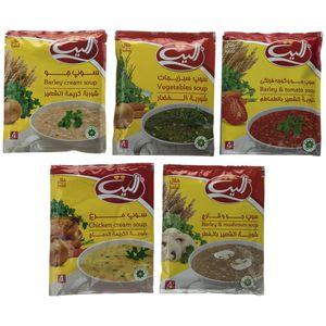 سوپ نیمه آماده جو/مرغ/گوجه فرنگی/سبزیجات الیت بسته 5 عددی