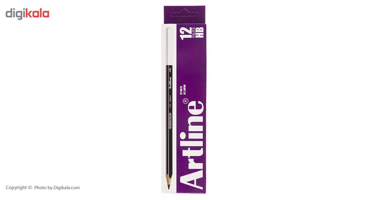 مداد مشکی آرت لاین مدل EP-HB/IL بسته 12 عددی main 1 1