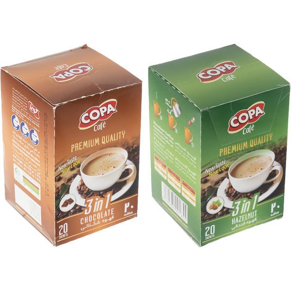 قهوه فوری فندقی و شکلاتی کوپا بسته 40 عددی