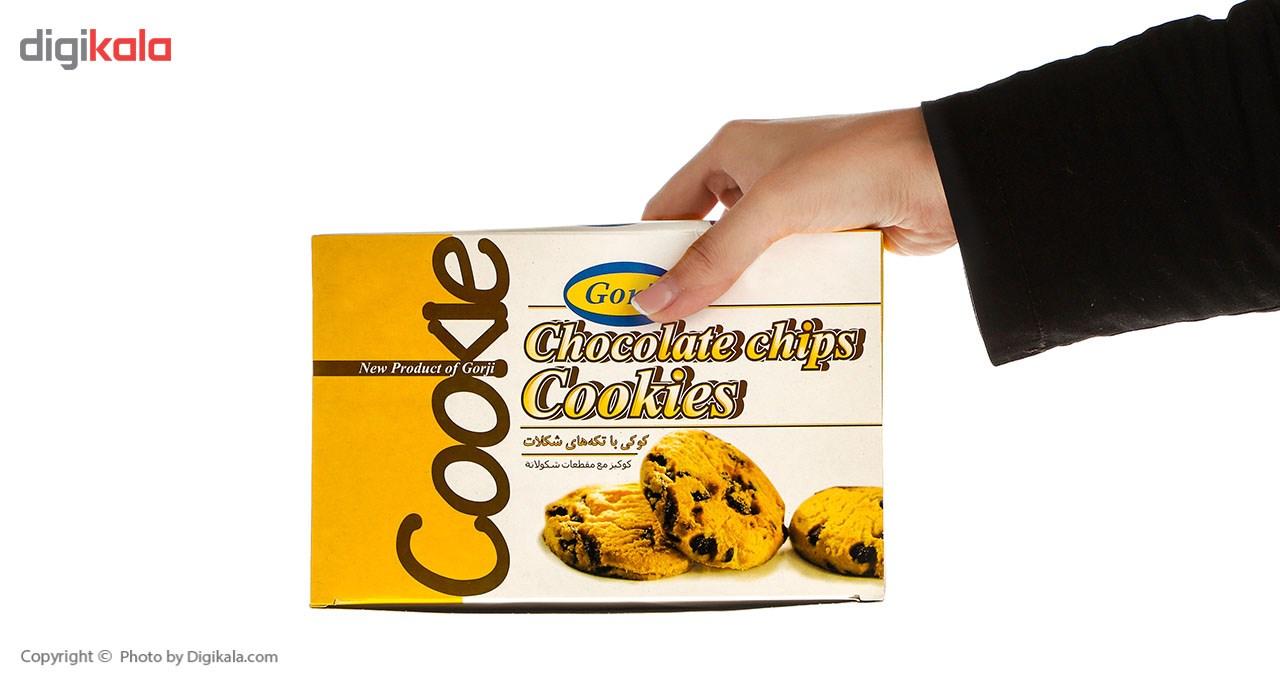 کوکی با تکه های شکلات گرجی مقدار 350 گرم