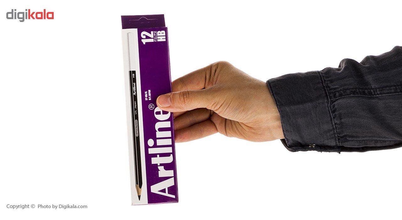 مداد مشکی آرت لاین مدل EP-HB/IL بسته 12 عددی main 1 6