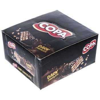 ویفر با روکش شکلات تلخ کوپا بسته 30 عددی