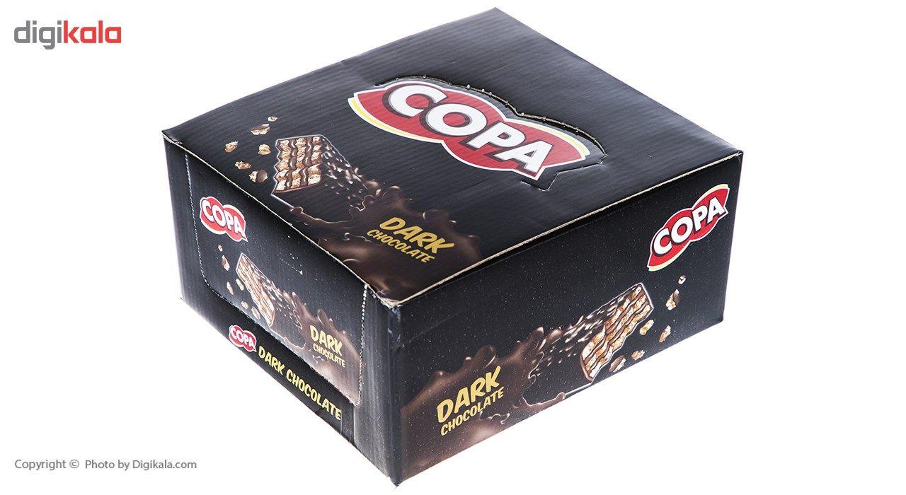 ویفر با روکش شکلات تلخ کوپا بسته 30 عددی main 1 1