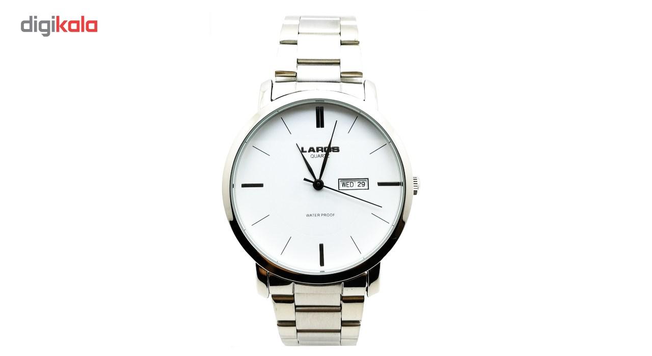 ساعت مچی عقربه ای مردانه لاروس مدل LM-A131-White