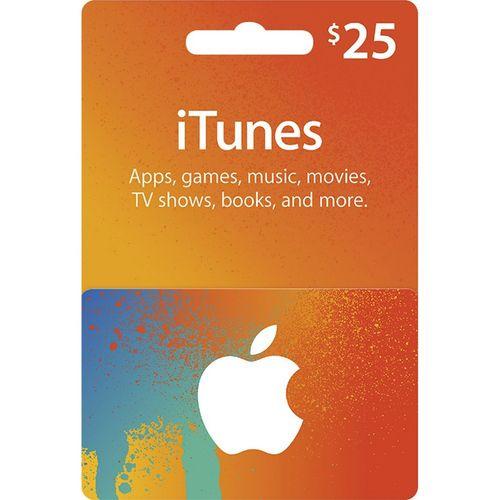 گیفت کارت 25 دلاری آیتونز آمریکا
