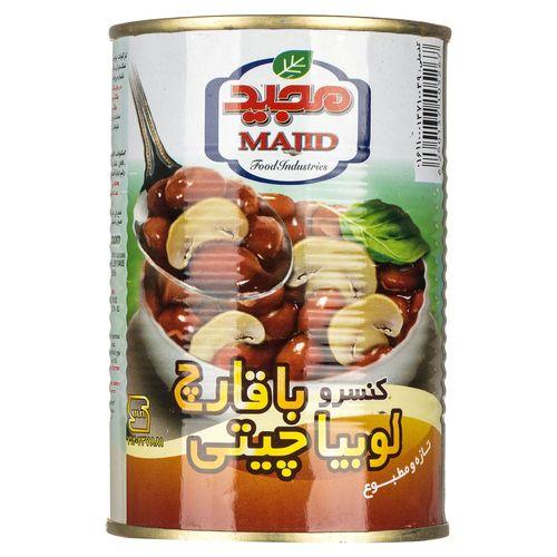 کنسرو خوراک لوبیا چیتی با قارچ مجید مقدار 400 گرم