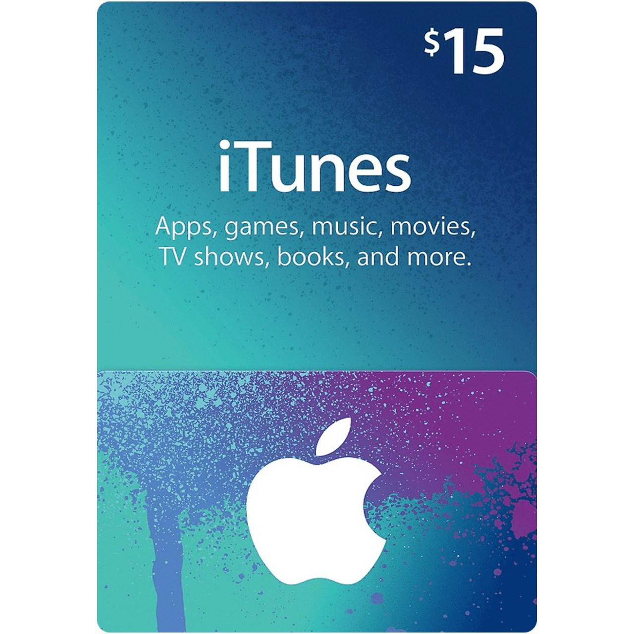 گیفت کارت 15 دلاری آیتونز  آمریکا