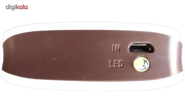 شارژر همراه Lisa-gary مدلSY ظرفیت 5000 میلی آمپر به همراه چراغ قوه آویز و کابل شارژ اندروید و لایتنینگ