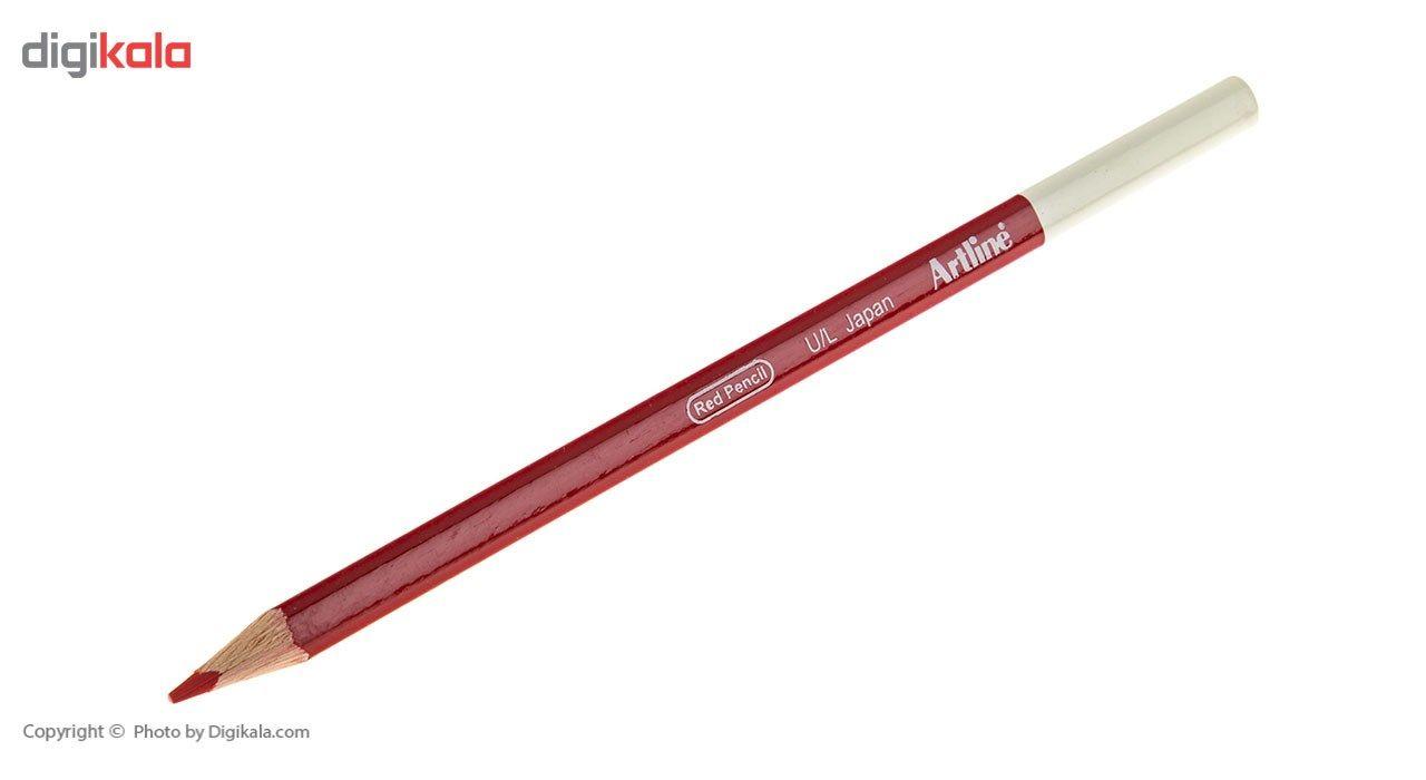 مداد قرمز آرت لاین مدل EP-RED/IL - بسته 12 عددی main 1 3