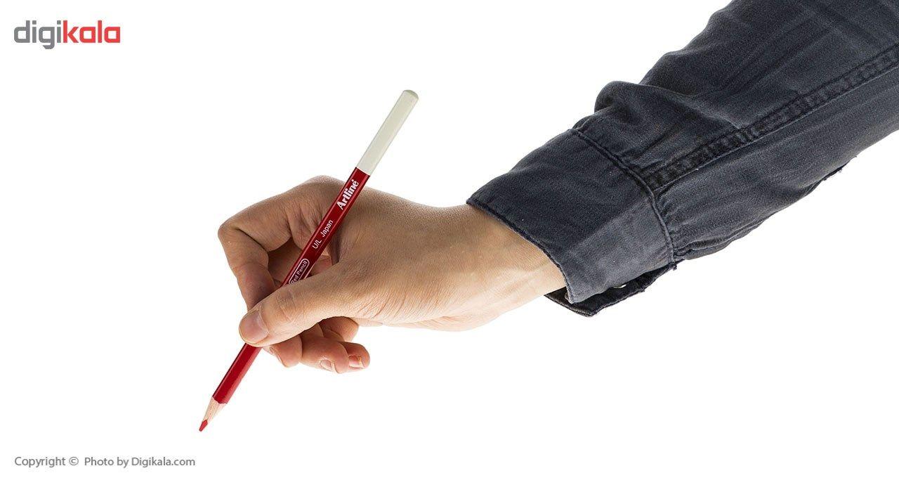 مداد قرمز آرت لاین مدل EP-RED/IL - بسته 12 عددی main 1 4