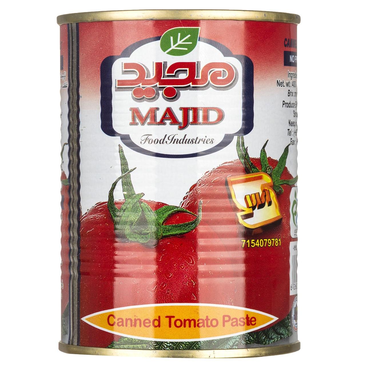 کنسرو رب گوجه فرنگی مجید مقدار 400 گرم
