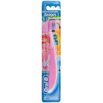 مسواک اورال-بی مدل Expert Stages 5-7 Princess Pink با برس نرم