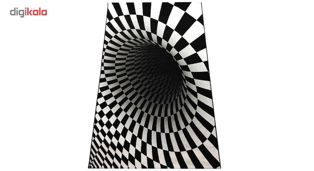 فرش ماشینی مدرن مدل فانتزی طرح سیاه چاله کد 9288