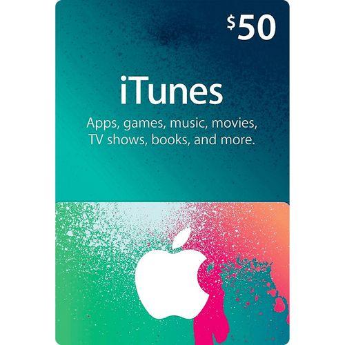 گیفت کارت 50 دلاری آیتونز  آمریکا