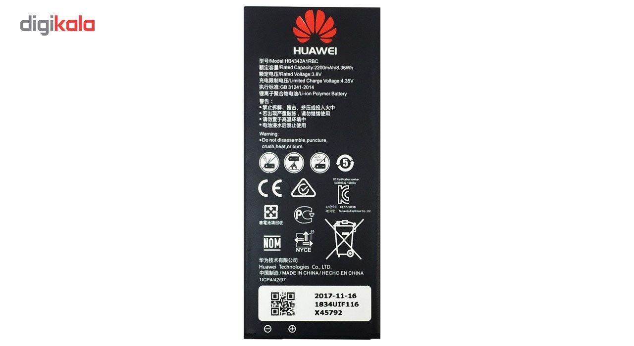 باتری موبایل مدل HB4342A1RBC با ظرفیت 2200mAh مناسب برای گوشی موبایل هوآوی Y6/4A main 1 1