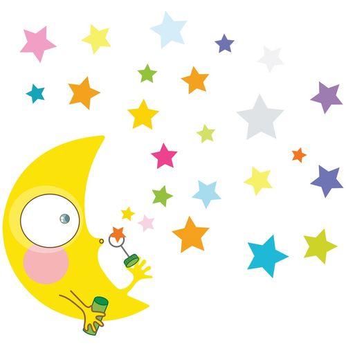 استیکر کارتونی ژیوار طرح بازی ماه و ستاره