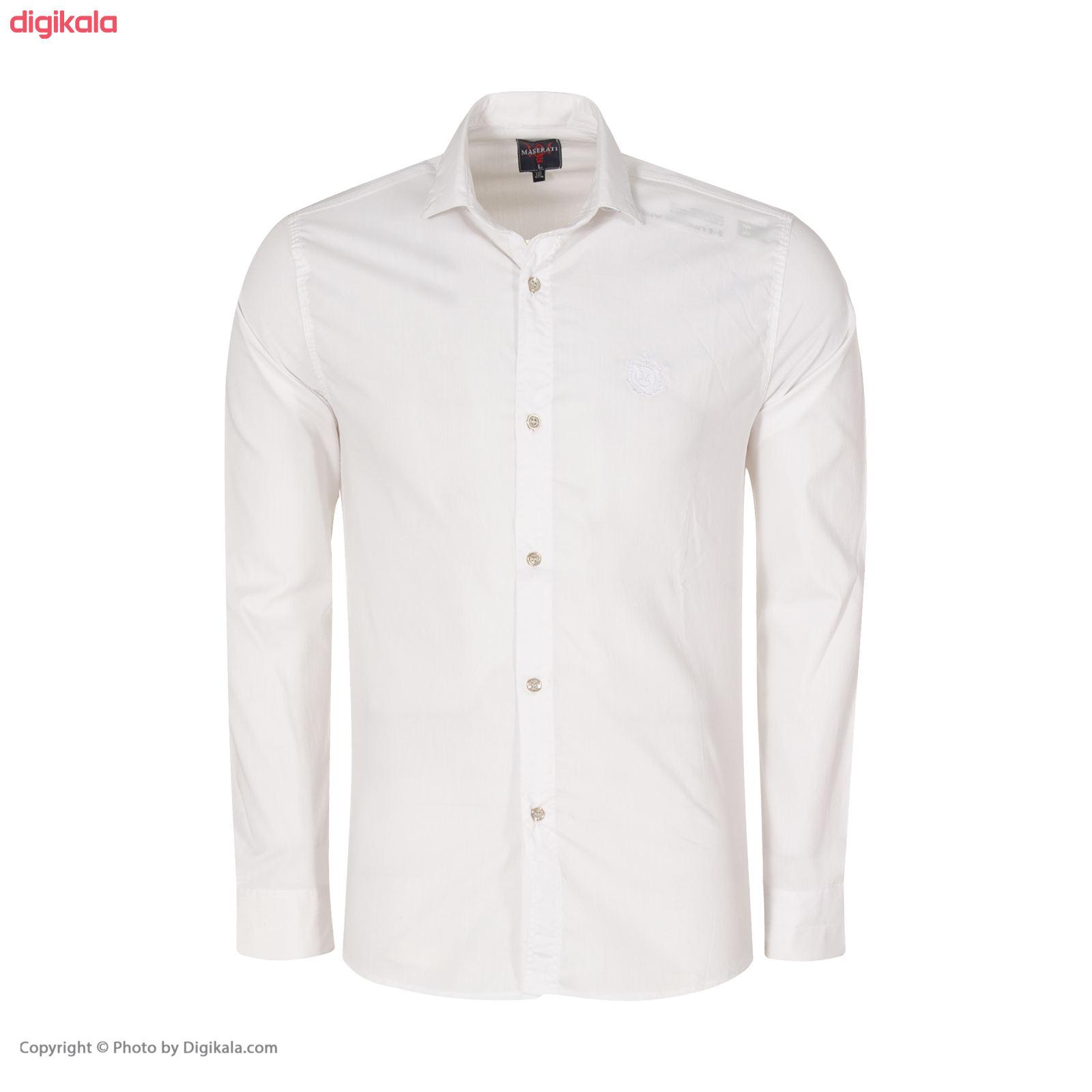 پیراهن مردانه کد PVLF-W-M-9903 رنگ سفید main 1 3