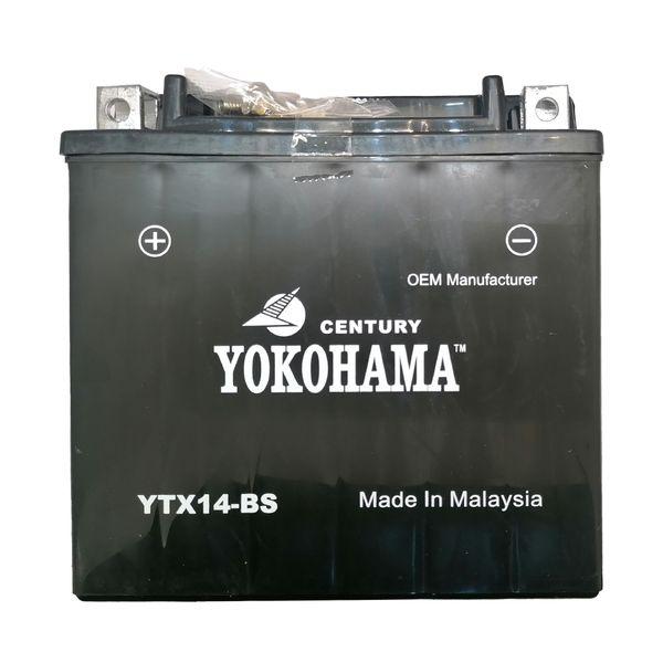 باتری موتورسیکلت یوکوهاما مدل 12V 14A