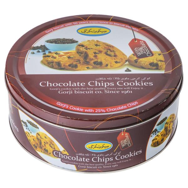 کوکی حاوی 25 درصد تکه شکلات گرجی مقدار 310 گرم