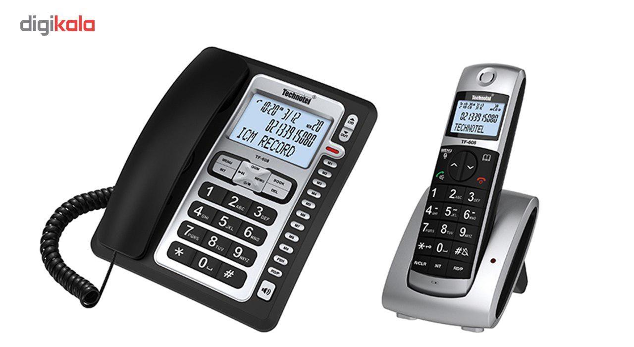 قیمت                      تلفن بی سیم تکنوتل مدل TF-608