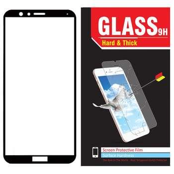 محافظ صفحه نمایش شیشه ای Hard and thick مدل full cover مناسب برای گوشی موبایل هوآوی Honor 7x