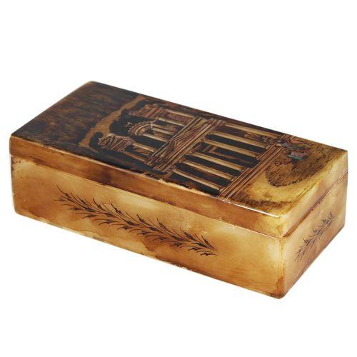 جعبه سنگ مرمر اثر بابایی طرح ابنیه مدل کف سنگ چین سایز 20 × 10 سانتی متر