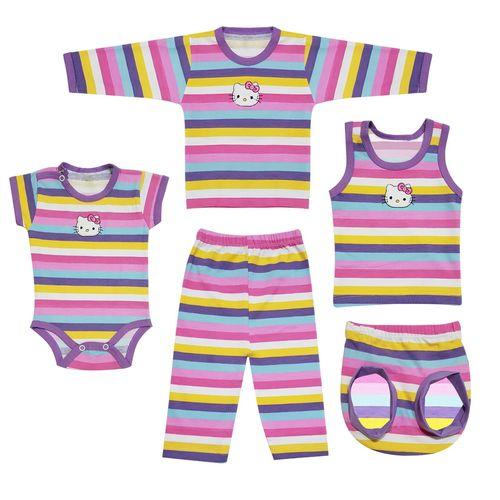 ست لباس نوزادی طرح کیتی مدل 2605