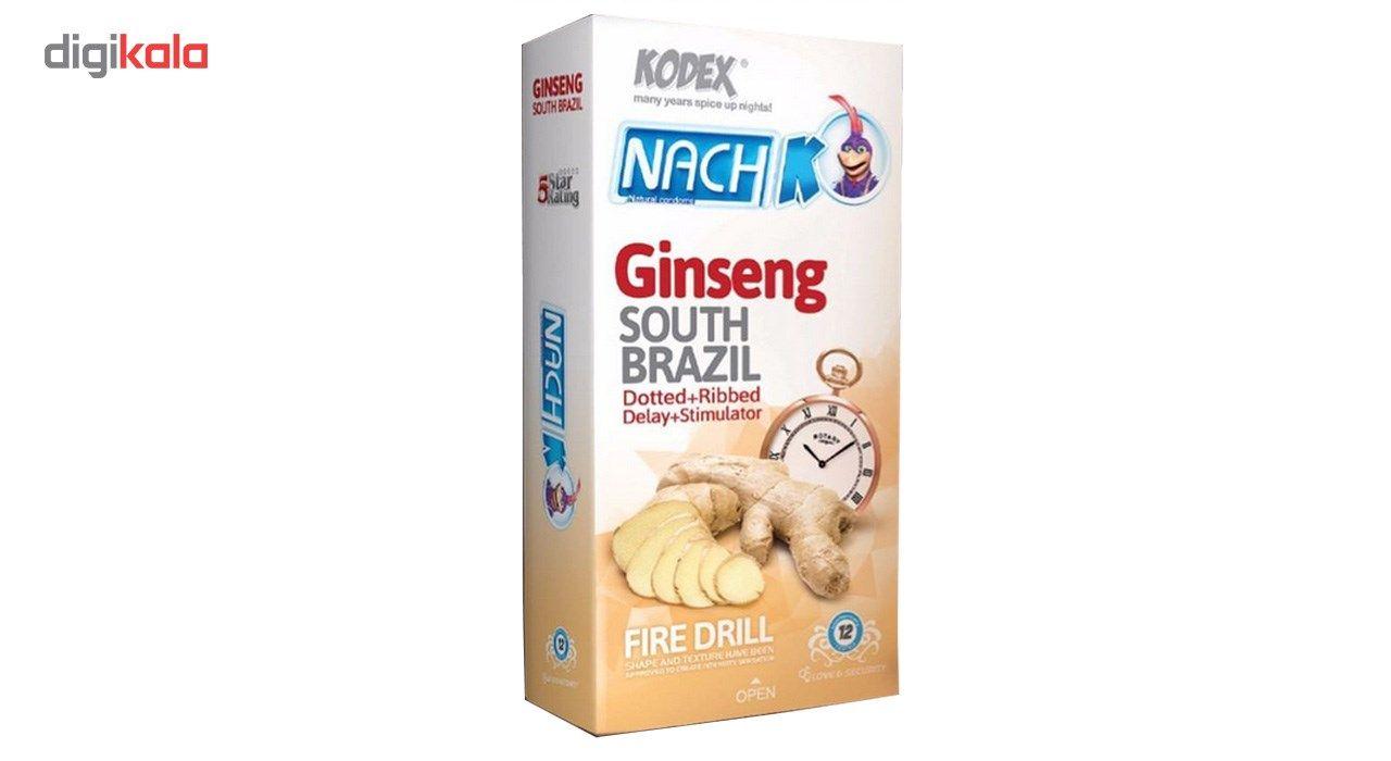 کاندوم تاخیری جینسینگ کدکس مدل Ginseng بسته 12 عددی main 1 1