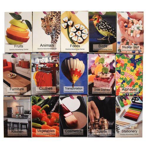 فلش کارت های زبان انگلیسی نشر دومینو  مجموعه پانزده عددی