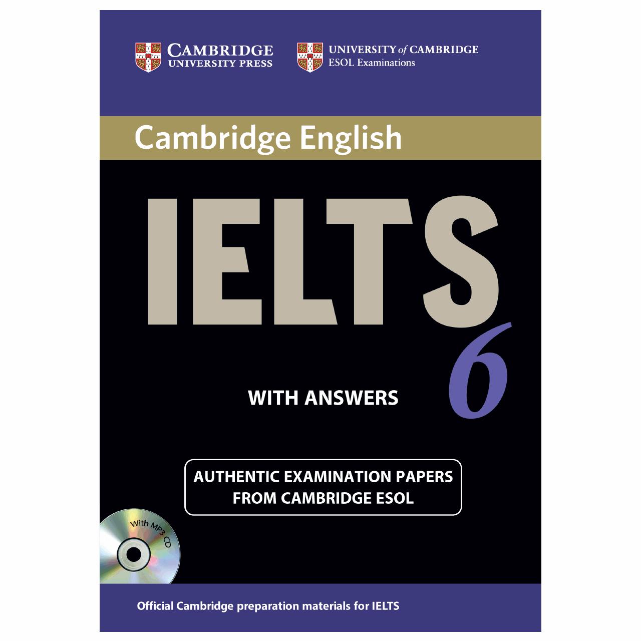 خرید                      کتاب زبان IELTS Cambridge 6 همراه با CD انتشارات کمبریج