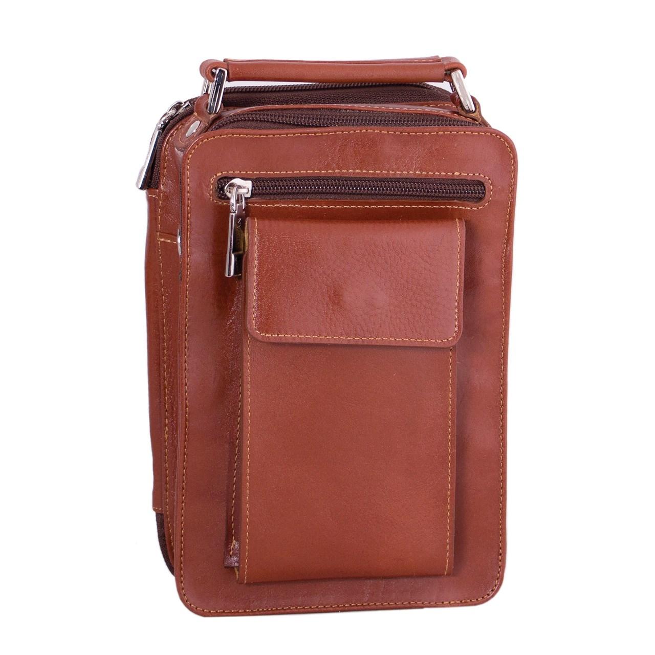 کیف دوشی چرم طبیعی آدین چرم مدل DG10.1