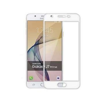 محافظ صفحه نمایش شیشه ای تمپرد مدل Full Cover مناسب برای گوشی موبایل سامسونگ J7 Prime