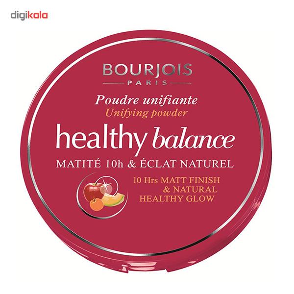پنکیک برنزه تیره بورژوآ مدل Healthy Balance Powder 56  Bourjois Healthy Balance Powder Hale Clair